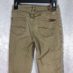 Kids 7 for All Mandkind khaki jean pants Sz. 10